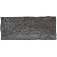 GET SB-1560-MNS Moonstone 15 1/4 inch x 6 1/4 inch Slate Melamine Rectangular Platter - 6/Pack