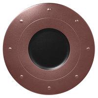 RAK Porcelain MFGDRP31BB Metal Fusion 12 1/4 inch Bronze / Black Porcelain Round Plate - 6/Case