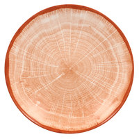 RAK Porcelain WDBUBC26CO Woodart 10 1/4 inch Cedar Orange Porcelain Deep Coupe Plate - 12/Case