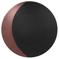 RAK Porcelain MFMOFP31BB Metal Fusion 12 1/4 inch Bronze / Black Porcelain Flat Plate - 6/Case