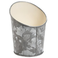 GET GC-34-GG/IV 3 1/2 inch Round Galvanized French Fry Cup with Angled Top