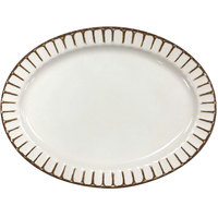 GET P-129-PL-PWH Paladin 12 inch x 9 inch White Melamine Oval Platter - 12/Pack