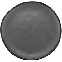 GET CS-100-GR Pottery Market 10 1/2 inch Matte Speckled Gray Melamine Coupe Dinner Plate - 12/Pack