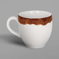 RAK Porcelain WDCLCU09TB Woodart 3.1 oz. Timber Brown Porcelain Espresso Cup - 12/Case