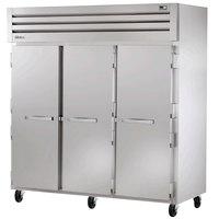 True STG3R-3S Specification Series Three Section Solid Door Reach In Refrigerator