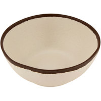 GET B-303-CRM Pottery Market 1 Qt. Matte Cream Melamine Salad Bowl - 12/Pack