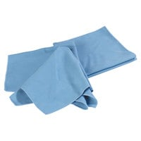 Carlisle 3633314 Flo-Pac 16 inch x 16 inch Blue Microfiber Fine Polishing Cloth - 12/Pack