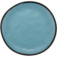 GET CS-90-GBL Pottery Market 9 inch Matte Speckled Grayish Blue Melamine Coupe Dinner Plate   - 12/Pack