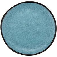 GET CS-90-GBL Pottery Market 9 inch Matte Speckled Grayish Blue Melamine Coupe Dinner Plate - 12/Pack