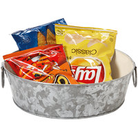GET GT-1090-GG/IV 10 1/2 inch Round Galvanized Tray with Handles