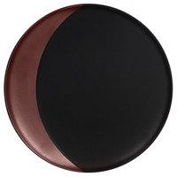 RAK Porcelain MFMODP24BB Metal Fusion 9 1/2 inch Bronze / Black Porcelain Deep Plate - 12/Case