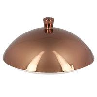 RAK Porcelain MFFDCL02B Metal Fusion 6 1/8 inch Bronze Porcelain Gourmet Deep Plate Cover - 6/Case