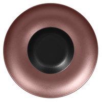 RAK Porcelain MFFDGD29BB Metal Fusion 11 7/16 inch Bronze / Black Porcelain Gourmet Deep Plate - 6/Case
