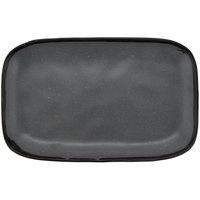 GET CS-1170-GR Pottery Market 12 inch x 7 1/2 inch Matte Speckled Gray Melamine Rectangular Platter - 12/Pack
