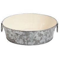 GET GT-109-GG/IV 9 inch Round Galvanized Tray with Handles