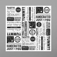 GET P-GT-1212-W 12 inch x 12 inch White Typography Deli Sandwich Wrap Paper - 1000/Case