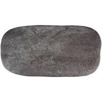 GET SB-2110-MNS Moonstone 21 1/4 inch x 10 1/2 inch Slate Melamine Rectangular Platter - 3/Pack