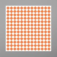 GET P-ORC-1212-W 12 inch x 12 inch Orange Check Deli Sandwich Wrap Paper - 1000/Case