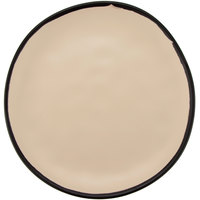 GET CS-100-MA Pottery Market 10 1/2 inch Matte Manila Melamine Coupe Dinner Plate - 12/Pack