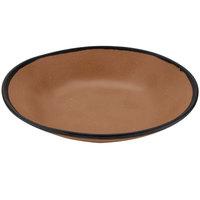 GET B-420-TP Pottery Market 1.3 Qt. Matte Speckled Brown Melamine Salad / Pasta Bowl - 12/Pack