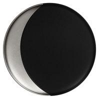 RAK Porcelain MFMODP27SB Metal Fusion 10 5/8 inch Silver / Black Porcelain Deep Plate - 12/Case