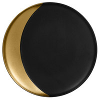 RAK Porcelain MFMODP24GB Metal Fusion 9 1/2 inch Gold / Black Porcelain Deep Plate - 12/Case