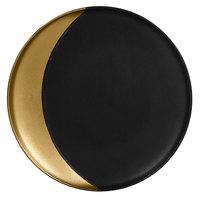 RAK Porcelain MFMODP27GB Metal Fusion 10 5/8 inch Gold /Black Porcelain Deep Plate - 12/Case