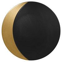 RAK Porcelain MFMOFP31GB Metal Fusion 12 1/4 inch Gold / Black Porcelain Flat Plate - 6/Case