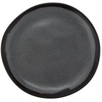 GET CS-70-GR Pottery Market 7 inch Matte Speckled Gray Melamine Bread Plate - 12/Pack