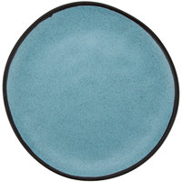 GET CS-100-GBL Pottery Market 10 1/2 inch Matte Speckled Grayish Blue Melamine Coupe Dinner Plate - 12/Pack
