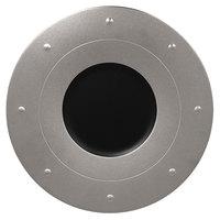 RAK Porcelain MFGDRP31SB Metal Fusion 12 1/4 inch Silver / Black Porcelain Round Plate - 6/Case