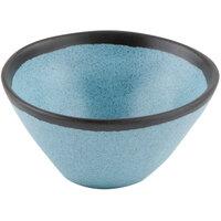 GET B-80-GBL Pottery Market 8 oz. Matte Speckled Grayish Blue Melamine Side Dish / Soup Bowl - 24/Case
