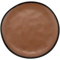 GET CS-90-TP Pottery Market 9 inch Matte Speckled Brown Melamine Coupe Dinner Plate - 12/Pack