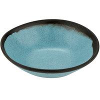 GET B-180-GBL Pottery Market 16 oz. Matte Speckled Grayish Blue Melamine Salad Bowl - 12/Pack