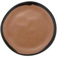 GET CS-70-TP Pottery Market 7 inch Matte Speckled Brown Melamine Bread Plate - 12/Pack