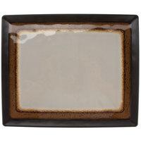 GET CS-1310-MBR Mantle 12 3/4 inch x 10 1/2 inch Brown Melamine Rectangular Platter - 12/Pack