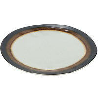 GET CS-1000-MBR Mantle 10 1/2 inch Brown Melamine Dinner Plate - 12/Pack