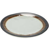 GET CS-700-MBR Mantle 7 1/2 inch Brown Melamine Bread Plate - 12/Pack
