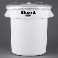 Rubbermaid FG9G7300WHT Brute 10 Gallon Ingredient Storage Bin with 2 Cup Measuring Scoop