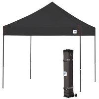 E-Z Up VG3SG10BK Vantage Instant Shelter 10' x 10' Black Canopy with Steel Gray Frame