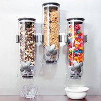 Zevro KCH-06139 SmartSpace Wall Mount 0.4 Liter Triple Canister Dry Food Dispenser