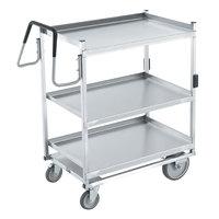 Vollrath 97206 Heavy-Duty Stainless Steel 3 Shelf Utility Cart - 39 inch x 20 inch x 44 1/2 inch