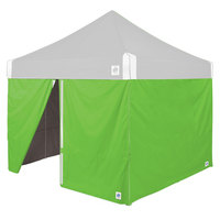 E-Z Up SWHV410BGR Hi-Viz 10' Bright Green Sidewall - 4/Set
