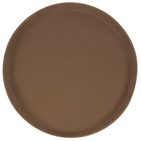 Carlisle 1400GR2076 Griptite 2 14 inch Brown Non Skid Fiberglass Serving Tray