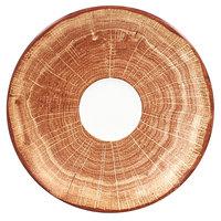 RAK Porcelain WDCLSA17TB Woodart 6 3/4 inch Timber Brown Porcelain Coffee Cup Saucer - 12/Case