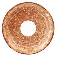 RAK Porcelain WDCLSA15TB Woodart 5 7/8 inch Timber Brown Porcelain Coffee Cup Saucer - 12/Case