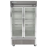 True T-35G-LD 40 inch Two Glass Door Reach In Refrigerator with LED Lighting