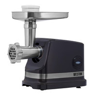 Weston 33-1101-W #5 Electric Meat Grinder and Sausage Stuffer - 120V, 500W