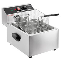 Galaxy EF10E 10 lb. Electric Countertop Fryer - 110V, 1600W
