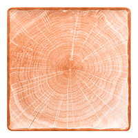 RAK Porcelain WDEDSQ30CO Woodart 12 inch Cedar Orange Porcelain Square Coupe Plate - 6/Case